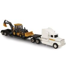 Dealer Semi With Backhoe Loader