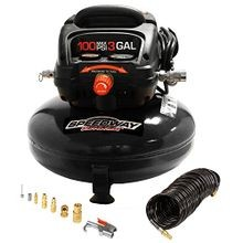 3 Gal Pancake Style Air Compressor With Accessory Storage