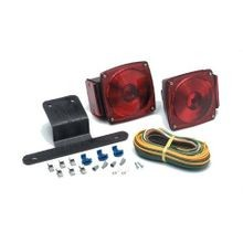 Red Lens LED Combination Tail Light For Driver Side