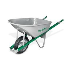 Steel 6 CF Steel Handle Wheelbarrow