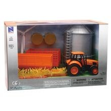 Kubota Farm Tractor with Grain Bin Playset