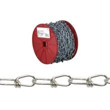 Pg072 2227 Double Loop Chain, No 3, 150 Ft L, 90 Lb, Low Carbon Steel