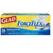 Force Flex 8 Gallon quick Tie White Tall Trash Bags