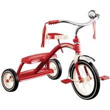 Dual Deck Tricycle, 49 Lb Weight Capacity, 12 X 1 1/4 In Front Wheel, 7 X 1 1/2 In Rear Wheel, Red