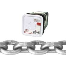 018 4616 High Test Chain, 3/8 In X 40 Ft, 5400 Lb, Carbon Steel