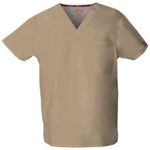 Unisex V-Neck Scrub Top with Pocket