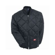 Men's Black Diamond Quilted Nylon Jacket