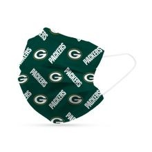 6 Pack Green Bay Packers Disposable Mask