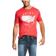 Men's Red USA Boot Tee