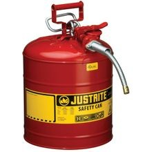 7250120 Type Ii Safety Can, 5 Gal, 11 3/4 In Dia X 17 1/2 In H, Auto Venting, Steel, Red