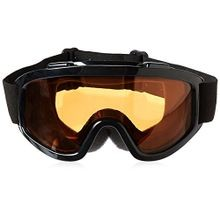 Motorcycle & Snowmobile Dual Lens Goggle - Black