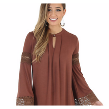 Ladies' Notched Crochet Tunic