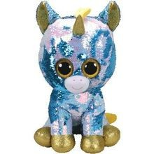 d5131b63c3f Dazzle Sequin Blue Unicorn Large