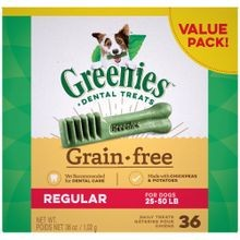 Grain Free Dental Regular Dog Treats, 36 Oz