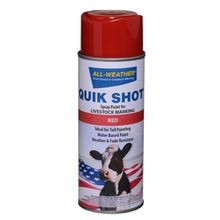 Quik Shot Upright Spray Paint for Livestock Marking, 16 oz can - Red