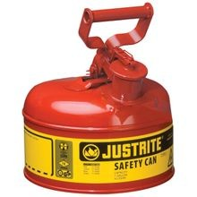 7110100 Type I Safety Can, 1 Gal, 9 1/2 In Dia X 11 In H, Self Venting, Steel, Red