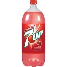 2 Liter Cherry 7UP Bottled Soda Pop