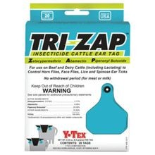 Tri-Zap 20 Count Insecticide Fly Cattle Ear Tags