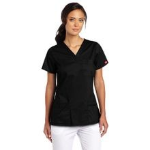 Ladies' V-Neck 2-Pocket Scrub Top