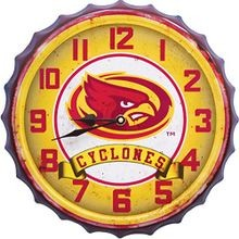 Iowa State University Bottle Cap Clock