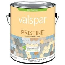 1 Gallon Stain Ultra White Base Pristine Exterior Paint