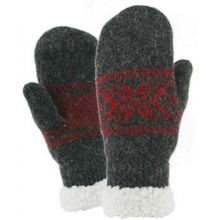 Ladies' Ragg Wool Snowflake Mitten