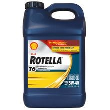 Rotella T6 Full Synthetic Heavy Duty Engine Oil 5W-40, 2.5 Gallon Jug