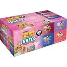 5.5 oz Can Savory Shreds 4-Flavor Variety Pack Wet Cat Food -32 pk