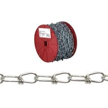 Pe072 2027 Double Loop Chain, 2/0, 125 Ft L, 255 Lb, Low Carbon Steel