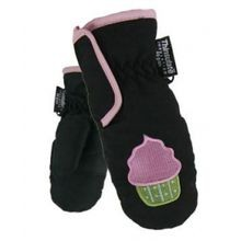 Toddler Girls' Microfiber Ski Mitten With Embroidered Design