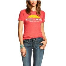 Women's Wild In The West Tee, Heather Red