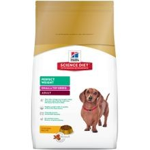 Adult Small & Toy Breed Perfect Weight Chicken Recipe Dry Dog Food, 15 lb bag