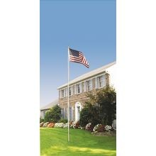 US Flag Kit With 20' Aluminum In-Ground Pole