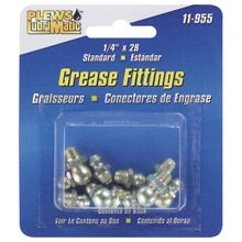 Plews 11 855 Standard Grease Fitting Assortment, 1/4 28 Thread Size