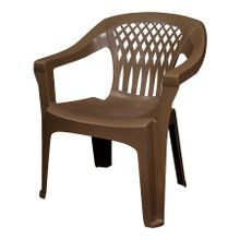 Earth Brown Big Easy Stacking Patio Chair