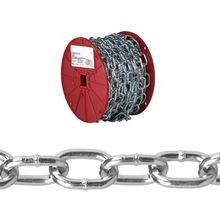 072 2927 Passing Link Chain, 2/0, 125 Ft L, 450 Lb, Low Carbon Steel