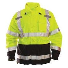 Class III Lime Yellow High Visibility Jacket