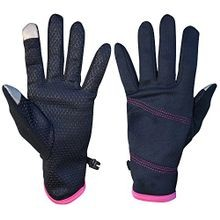 Ladies' Lightweight Fleece Gloves with Touchscreen Finger Tips and Hand Heat Warmer Pockets