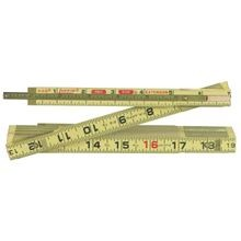 Red End Folding Wood Rule With Extension Slide Rule