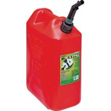 Jerry Gas Can, 5.3 Gal, 18.3 In H, Manual Venting, Polyethylene, Red