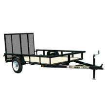5.5' x 8' Wood Floor/Pipe Railing Trailer w/Gate