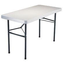 Light Commercial Utility Table, 24 In W X 48.3 In D X 29 In H, Rectangular, Hdpe