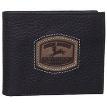 Men's Black Historical Logo Passcase Wallet