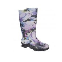 Ladies' Puddelton Electra Purple Flower Knee Boot