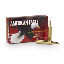 American Eagle .223 Ammunition, FMJ 55 grain 100 rounds