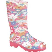 Toddler Girls' Waterproof PVC Rain Boot