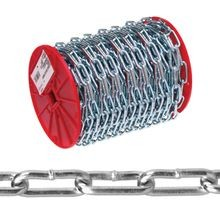 072 3627 Straight Link Chain, No 2 X 125 Ft, 520 Lb, Low Carbon Steel