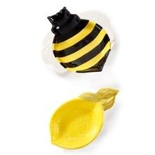 2 Assorted Designs Bee Lemon Tea Bag Holder