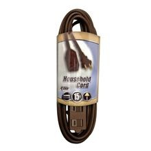 16/2 Gauge -15' Brown Indoor Extension Cord
