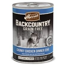 Backcountry Grain Free Chunky Chicke Dinner in Gravy Canned Dog Food 12.7 oz